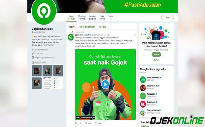 Twitter Gojek Indonesia