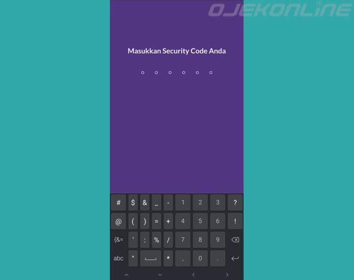 Masukan Security Code OVO