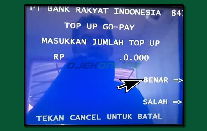 Cara Top Up GoPay Lewat ATM BRI