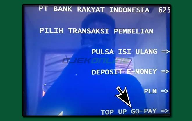 Top Up Saldo GoPay Lewat ATM BRI